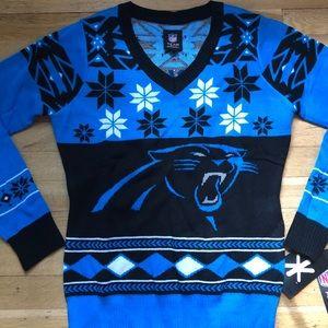 NFL Sweaters - Carolina Panthers Ugly Christmas Sweater